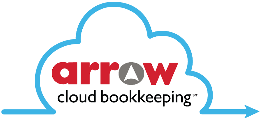 Arrow Cloud Bookkeeping Logo